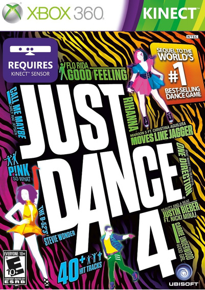 Just Dance 4 Nintendo Wii Midia Fisica Original Novo Lacrado
