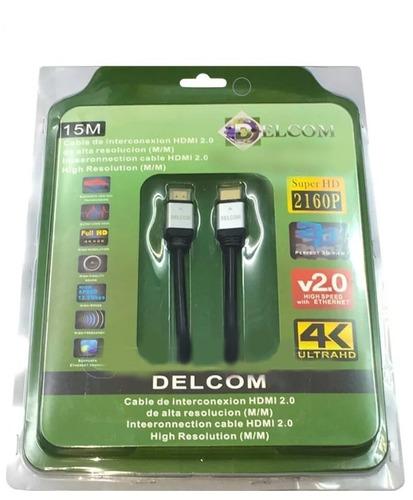 Cable Hdmi 2.0 De 15 Metros Delcom Ultra Hd 4k Audio Video