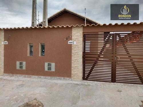 Casa Com 2 Dormitórios À Venda, 60 M² Por R$ 165.000 - Nova Itanhaém - Itanhaém/sp - Ca1180