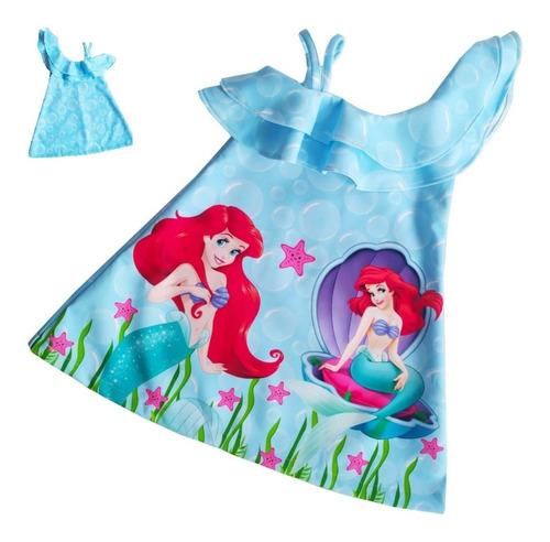 Imagen 1 de 6 de Vestido Con Bolero Sirenita Princesa Ariel - Ig
