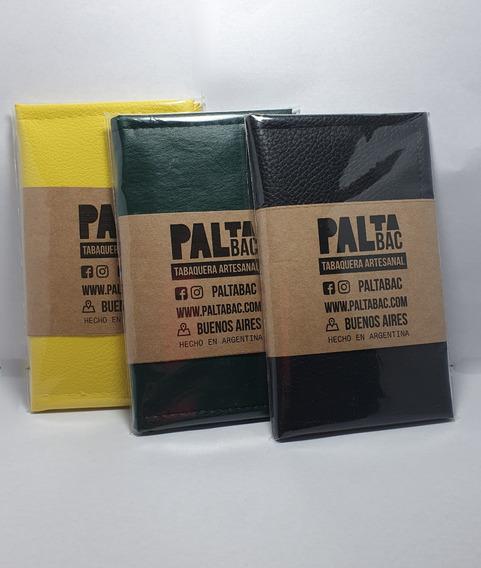 Tabaquera Cuero Ecologico Billetera P Armar Tabaco Paltabac