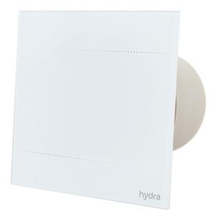 Extractor De Aire Vidrio Blanco Para Baño Potenciado Hydra