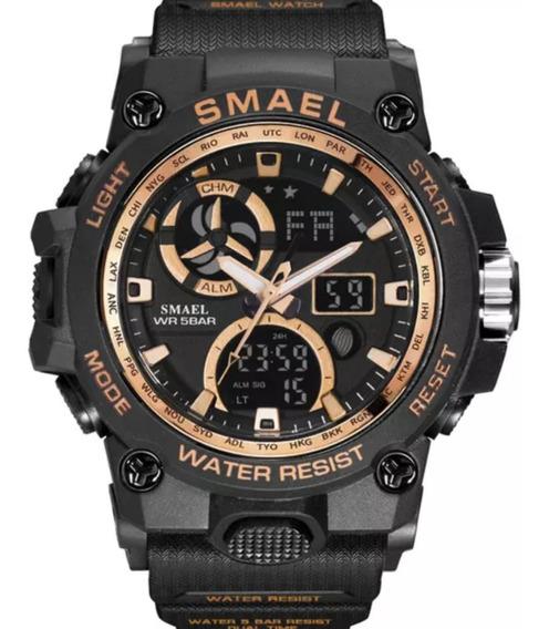 Relógio Masculino Smael 8011 Militar Esportivo Prova D