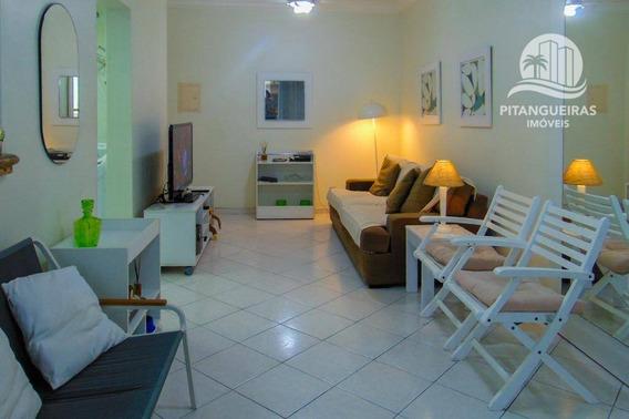 Flat Com 2 Dormitórios À Venda - 76 M² - Prédio Com Área De Lazer - Pitangueiras - Guarujá/sp. - Fl0093