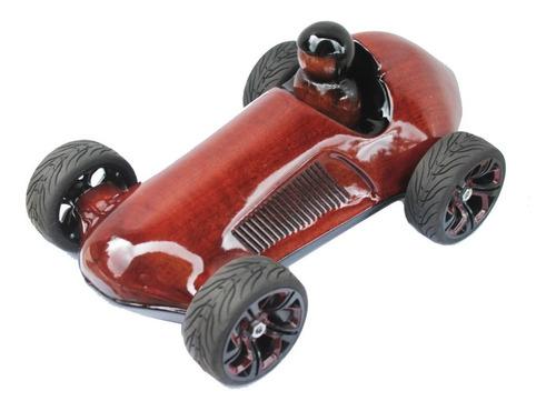 Carrinho De Madeira Maciça, Miniatura Formula 1, Decoração
