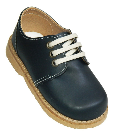 Zapato Nene/a Cuero Acordonado Art 855. Marca Zapatino