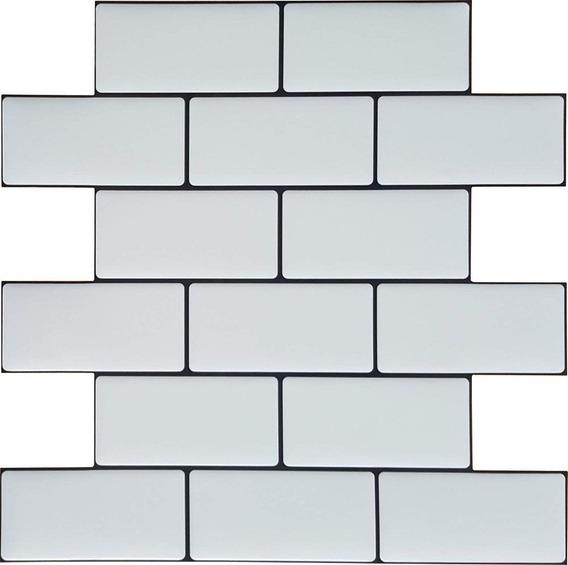 Autoadhesivo Muresco Ceramico Blanco 1653 25,4x25,4cm