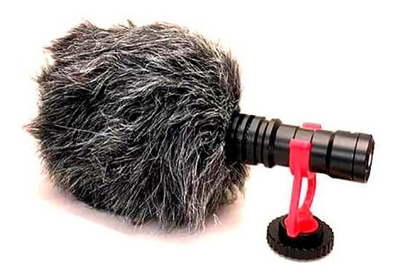 Microfone Direcional Greika Gk-vm01 Para Celular E Câmera