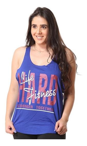 Kit 4 Camiseta Regata Academia Feminina Fitness Blusa