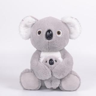 Koala Con Bebe De Peluche 33 Cm Alto Real Hermoso