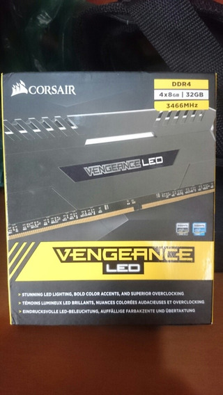 Memória Corsair Vengeance Led 32gb (4x8) 3466mhz Ddr4
