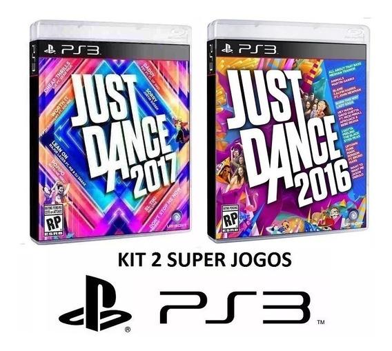 Just Dance 2017 + 2016 - Midia Fisica Original Lacrado - Ps3