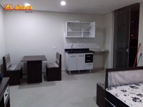 Imagem 1 de 22 de Studio Com 1 Dormitório À Venda, 38 M² Por R$ 270.000 - First - Vila Augusta - Guarulhos/sp - St0003