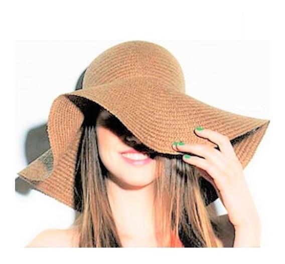 Chapéu Floppy De Praia Aba Grande + De 10 Cores Disponíveis