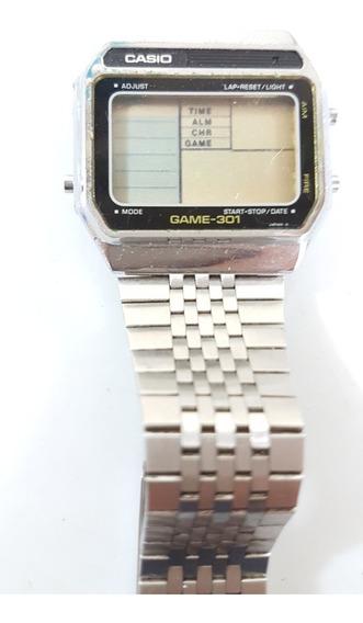 Antigo Relógio Cassio Gm-301 Com Game 1980 Raríssimo