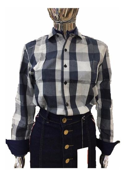 Camisa Blusa Xadrez Feminina De Algodao