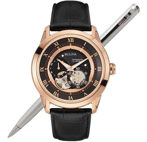 Relógio Bulova Masculino Automático Wb21874p 97a116 C/ Nfe