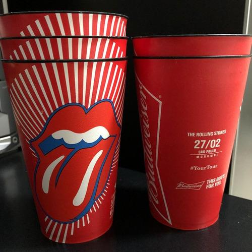 Copo The Rolling Stones Budweiser São Paulo Morumbi 2016