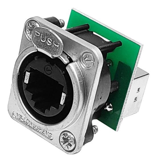 Conector Rj 45 A Chasis Metal Venetian Let005a Rj45
