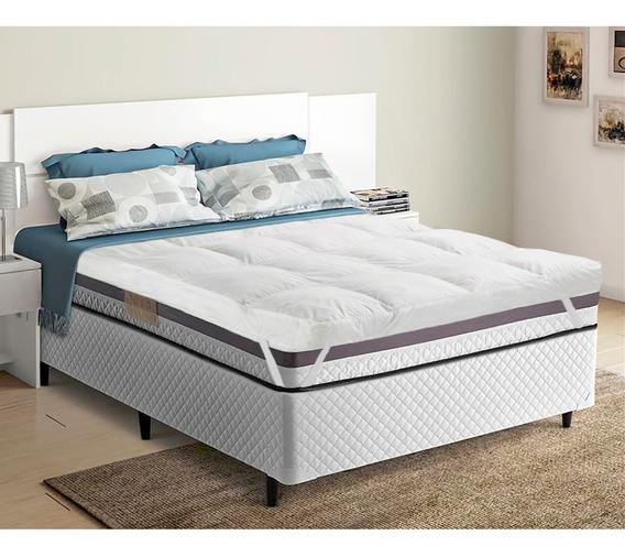 Pillow Top Para Cama Casal Trevalla Confort Manta 200 Fios