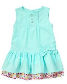 Vestido Azul Piscina Importado Crazy 8 - Tam 12 A 24 Meses