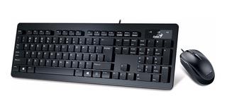 Kit Teclado Y Mouse Slimstar C130 Genius Usb Con Cable