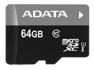 Memoria Micro Sd 64gb Clase 10 Con Adaptador
