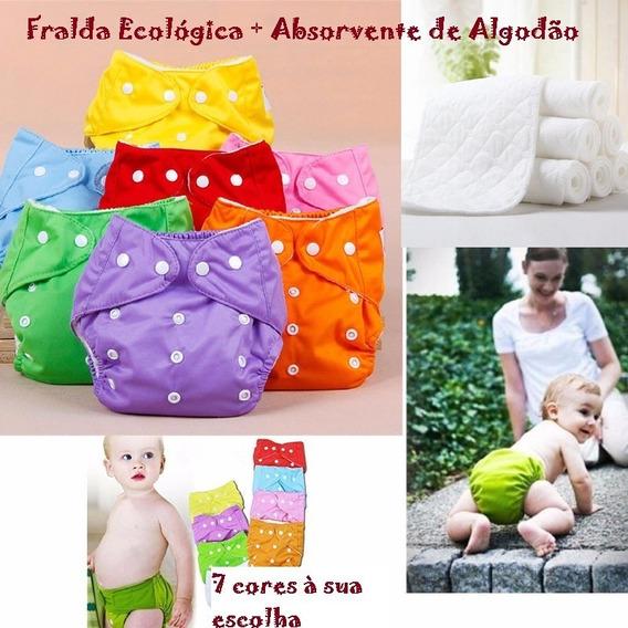 Fralda Ecologica + Absorvente De Algodão
