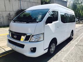 Nissan Urvan 2014 15 Pasajeros Amplia Doble Clima Seminueva