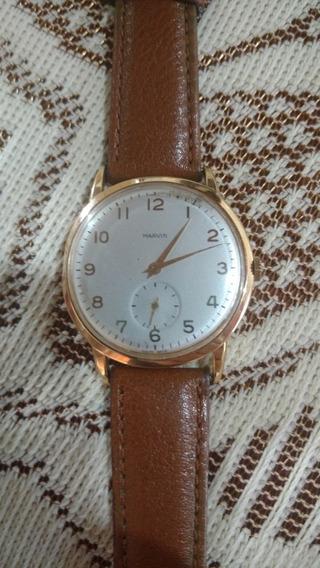 Relógio Antigo Marvin De Ouro 18 K A Corda 34mm