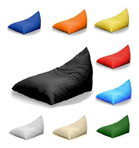 Imagen 1 de 9 de Puff Pirámide Impermeable Variados Colores Negro