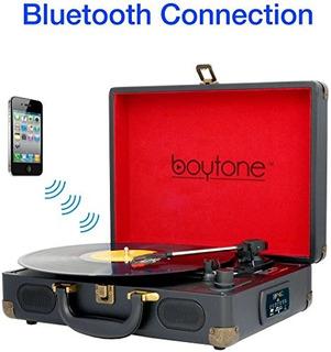 Boytone Bt-101b Bluetooth Tocadiscos Maletín Reproductor De