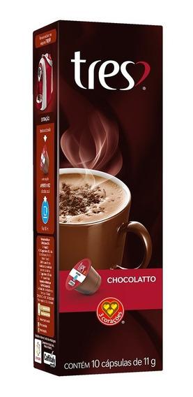 Cápsulas 3 Corações Espresso Chocolate Quente 10un