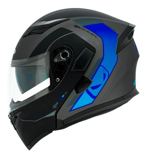 Casco Abatible Moto Hro 3400 Dv Adventurer Azul