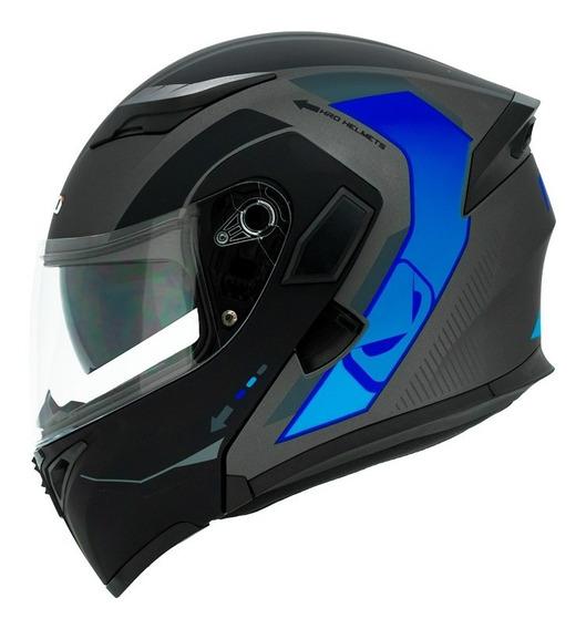 Casco Abatible Moto Hro 3400 Dv Adventurer Azul