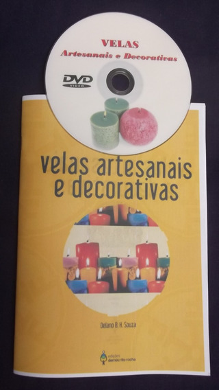 Dvd Velas Artesanais E Decorativas + Livreto - Frete Grátis!