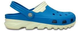 Zapato Crocs Caballero Duet Max Clog Azul Acero/blanco