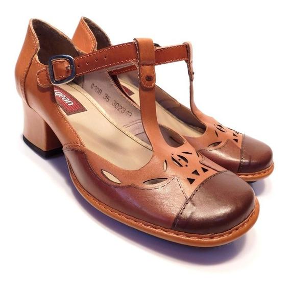 Sapato Feminino Couro Retrô J.gean - Ref Ck0108