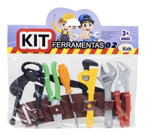Kit Ferramentas Brinquedo Infantil Inglesa Alicate Chave