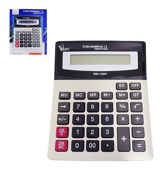 Calculadora De 12 Dígitos Wec-1200v - 19,5x14,8cm - Wx4880