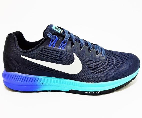 Tenis Feminino Nike Structure N.37 Azul Em Promoção