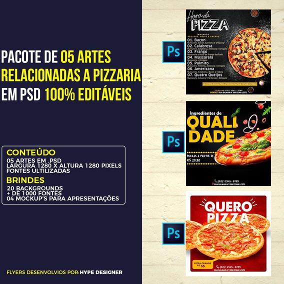 Pacote De Flyers Psd Para Mídia Social (pizzaria) #01