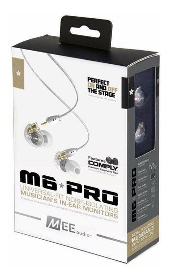 Fone Inear Para Retorno Profisional - M6 Pro Mee Audio- Orig