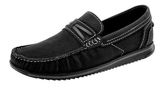 Zapatos Mocasines Para Niño Negro Total 3004 Ng Poi19