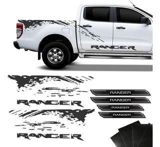 Faixa Ranger 2013/2019 Grafite + Soleira Porta Resinada