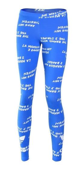 Calzas adidas Originals Trefolio Azul Mujer