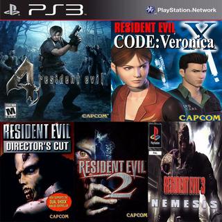 Resident Evil 1 - 2 - 3 - 4 - Code Veronica Ps3 Digital Gcp
