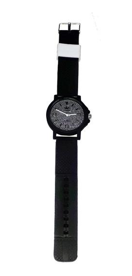 Relógio Feminino Analógico Silicone Preto