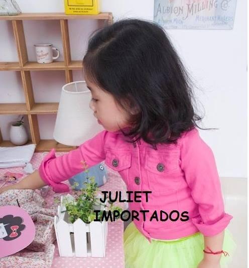 Cod 372 - Casaco Jaqueta Infantil Menina Importado 6 - 7 Ano