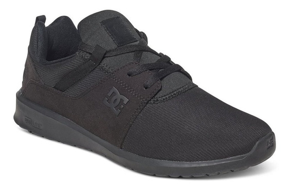 Tenis Hombre Heathrow Adys700071 3bk Negro Dc Shoes